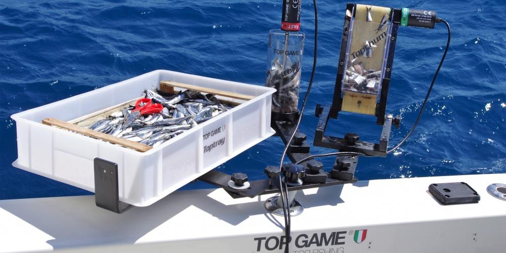 Combiné broyeur / distributeur Top Sea en pêche