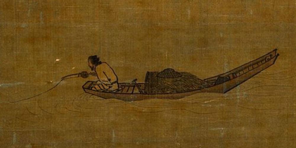 Pêcheur solitaire sur le fleuve en hiver de Ma Yuan, le premier moulinet