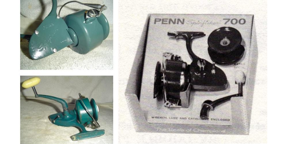 Penn Spinfisher 700 original, reconnaissable avec sa poignée verte
