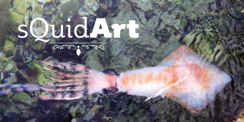 Logo SquidArt sur fond avec Krak