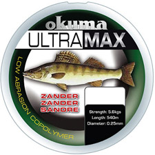 Photos de Fil Nylon Okuma Ultramax Sandre - Gris