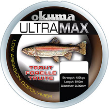 Photos de Fil Nylon Okuma Ultramax Truite - Gris