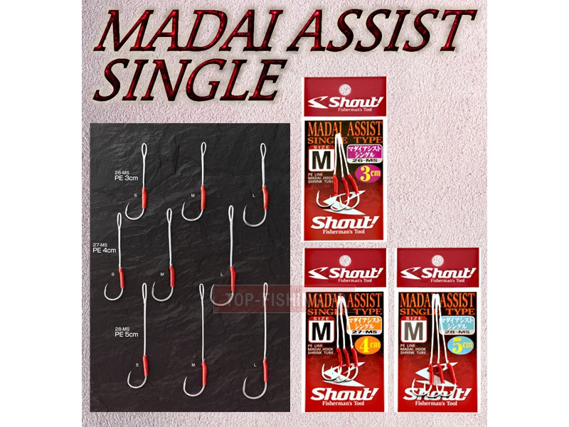 Assist Hook Shout Madai - 4 cm