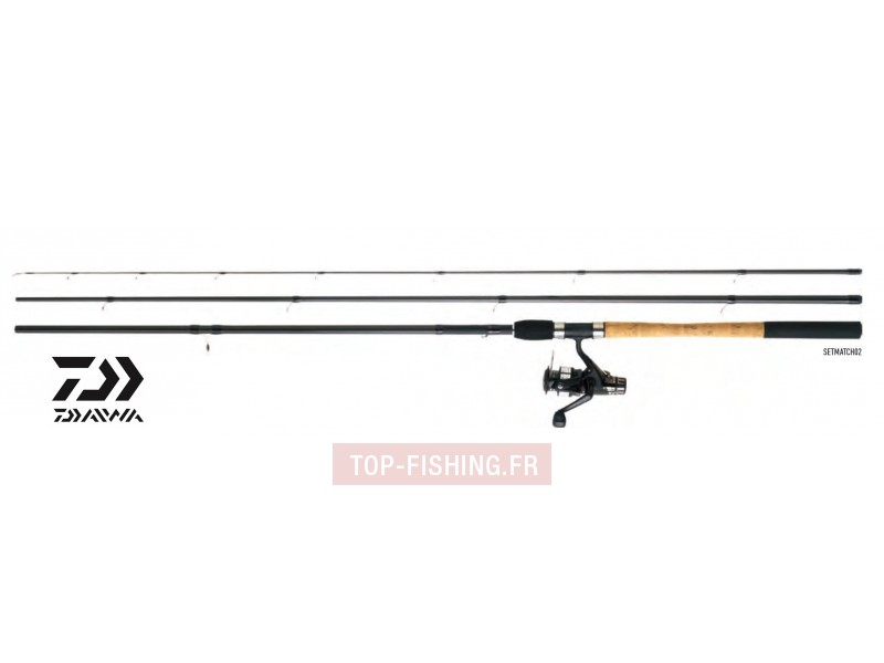 Ensemble Anglaise Canne & Moulinet Daiwa Set Match 02