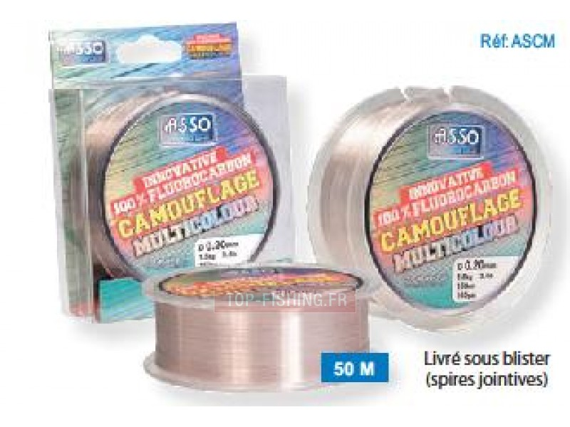 Fil Fluorocarbone ASSO Camouflage Multicolour - 50m