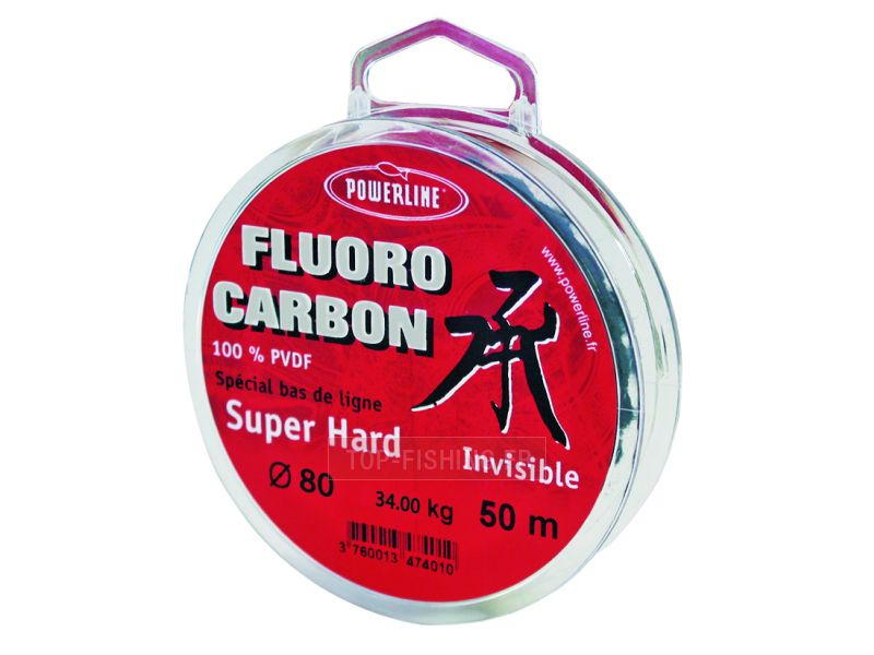 Fluorocarbone Carbon Powerline Hard - 50 m