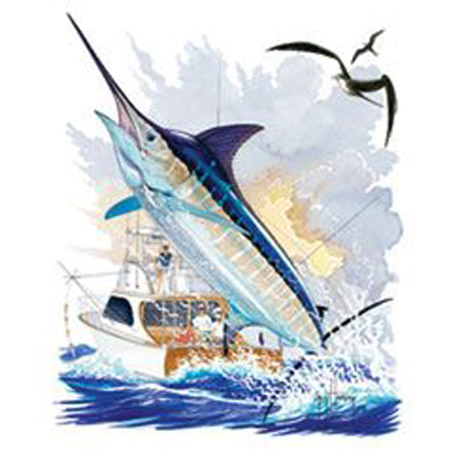 Tee Shirt Guy harvey Boat