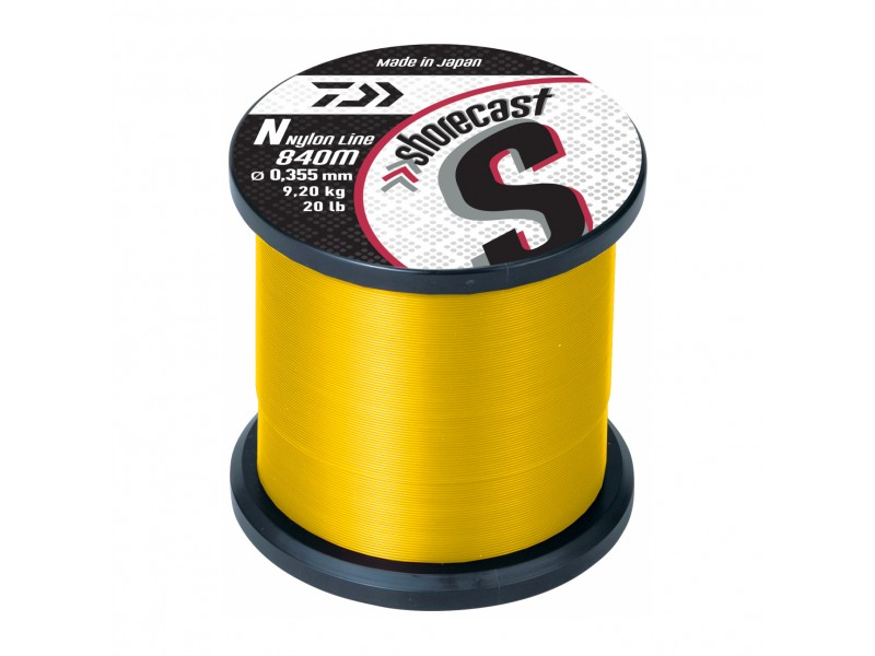 Nylon Daiwa Shorecast Jaune Fluo