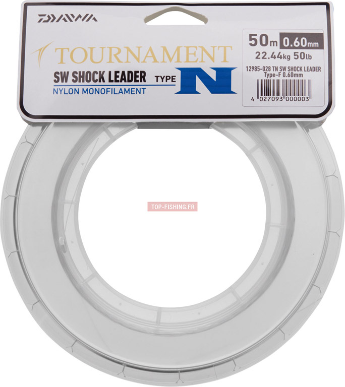Nylon Daiwa Tournament SW Shock Leader - 50 m