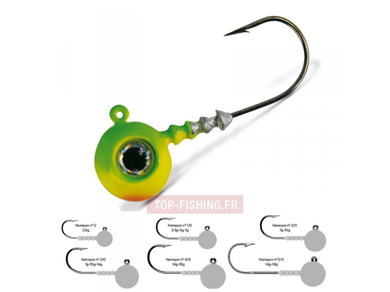 Tête Plombée VMC Big Eye - Chartreuse Lime Green