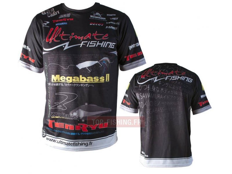 Tee Shirt Ultimate Fishing Competition Noir
