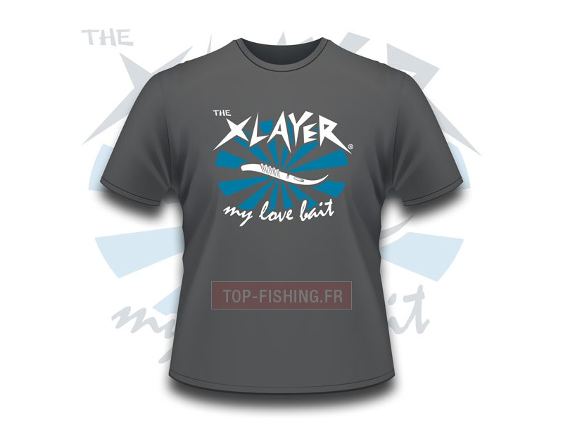 Tee Shirt Megabass X-Layer Love Bait Gris