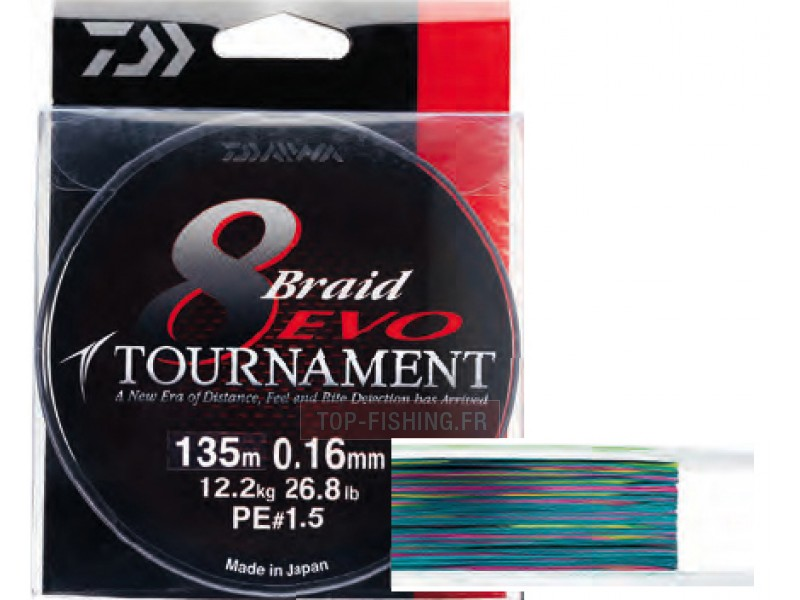 Tresse Daiwa Tournament 8 Braid Evo Multicolore - 300 m