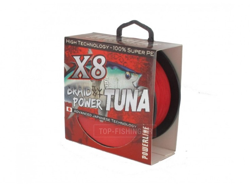 Tresse Powerline Braid Power Tuna Rouge - 300 m