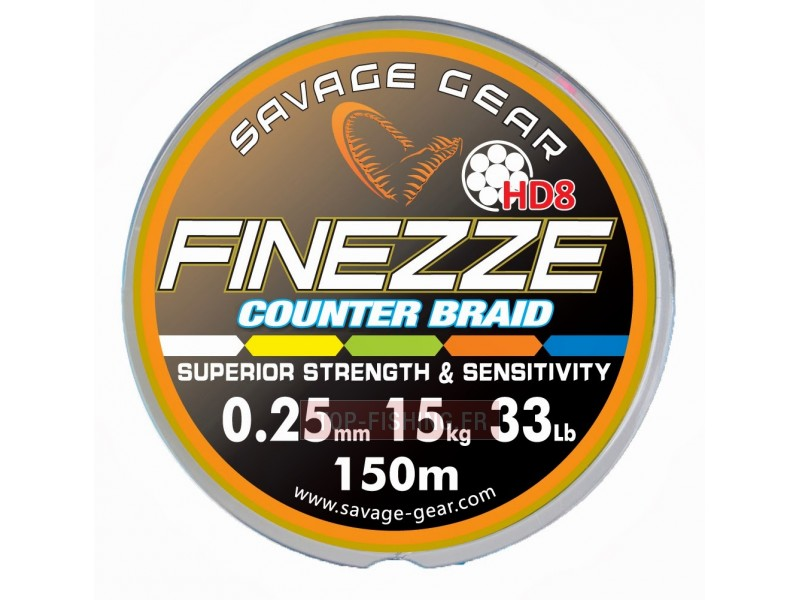 Tresse Savagear Finesse HD8 Counter Braid - 230 m