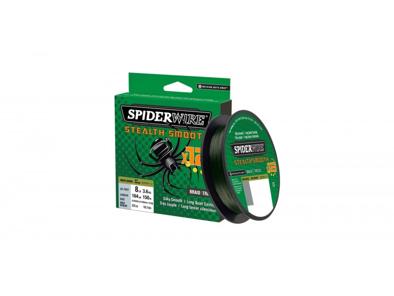 Tresse Spiderwire Stealth Smooth 12 Braid Moss Green 150m