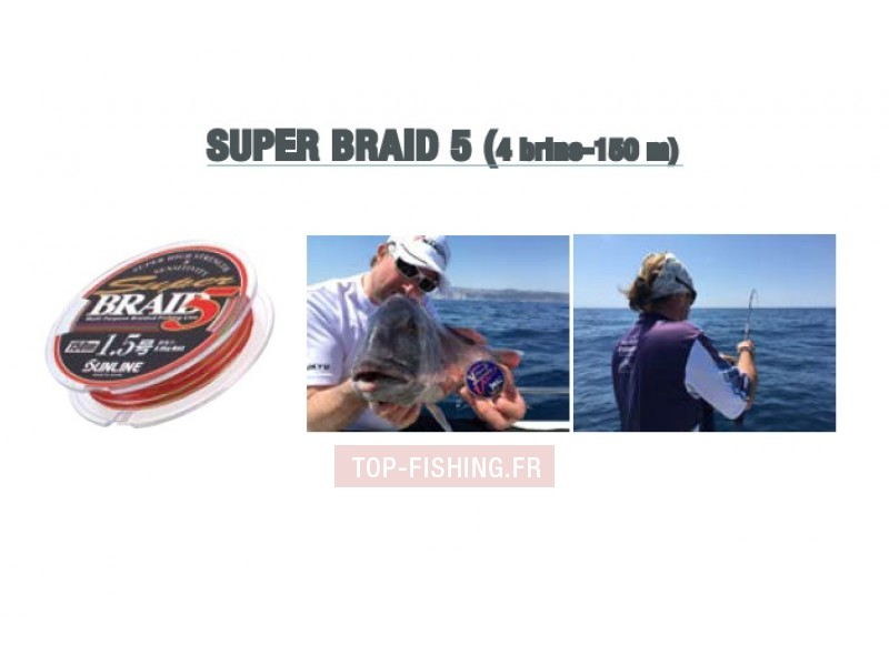 Tresse Sunline Super Braid 5 - 4 brins 150m