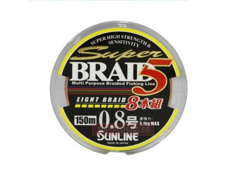 Tresse Sunline Super Braid 5 - 8 brins 150m