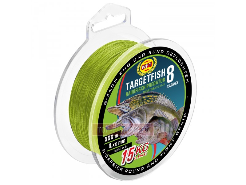Tresse WFT 8 brins Target Fish Carnassiers Chartreuse