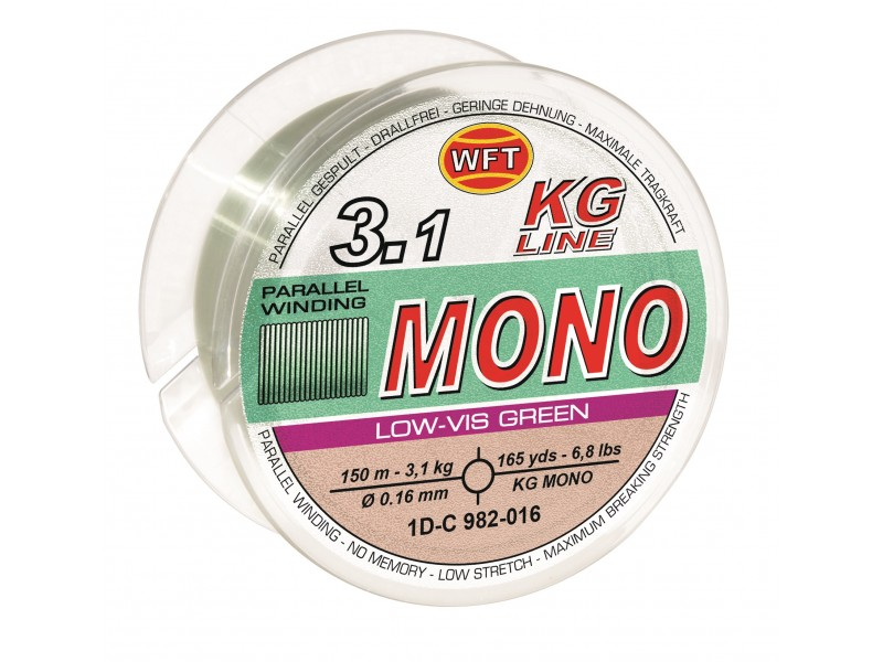 Nylon WFT Kg Line Mono Low-Vis Green 150m