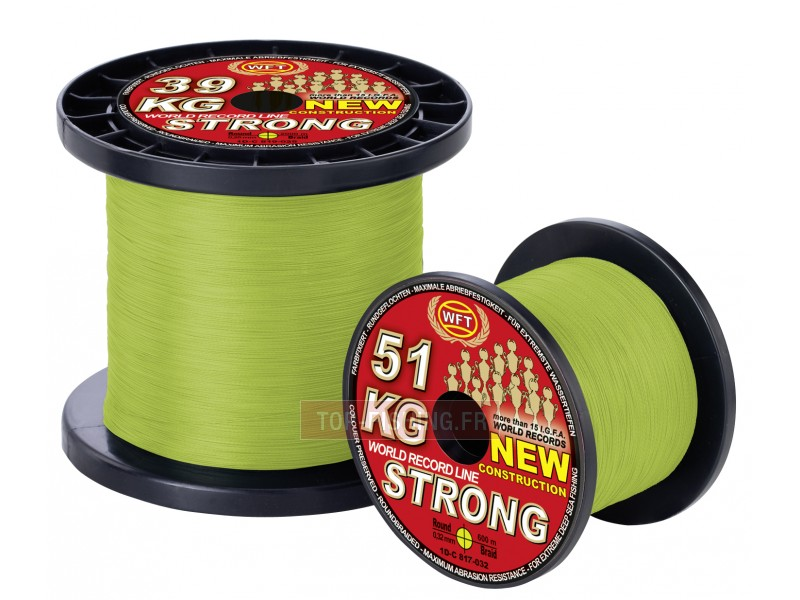 Tresse WFT KG Strong Chartreuse 1000m