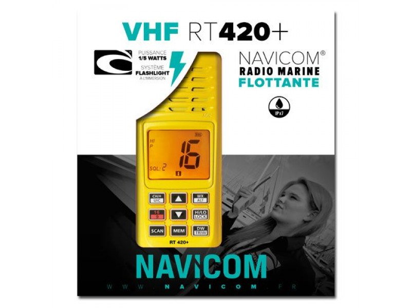 VHF Navicom RT420+ Pack VHF portable 5W