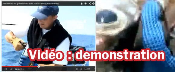 Vidéo d'une partie de pêche dans les grands fonds