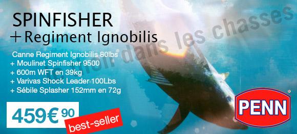 Ensemble Spinning Penn  + Ignobilis pour la pêche au thon