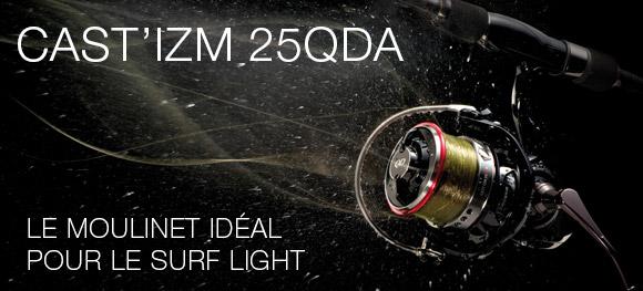 Cast'IZM, le moulinet idéal pour le Surf Light