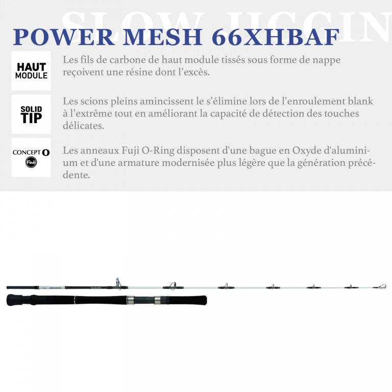 Canne Daiwa PowerMesh Slow Jigging, les technologies