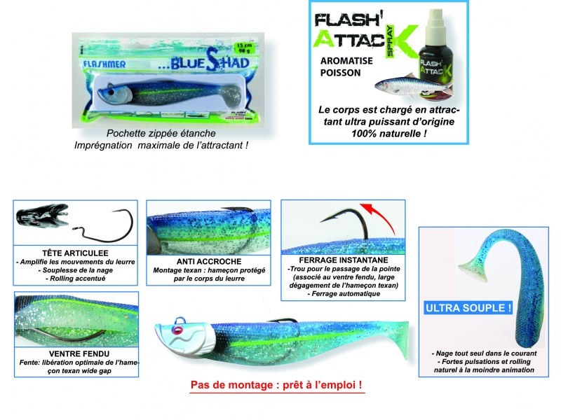 Avantages du Blue Shad Flashmer