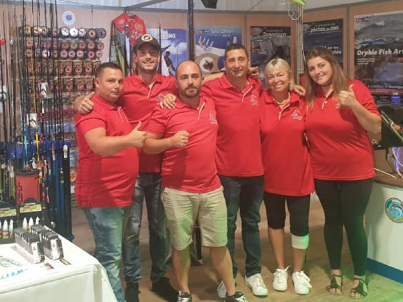 L'équipe Top Fishing au salon de Solenzara 2019