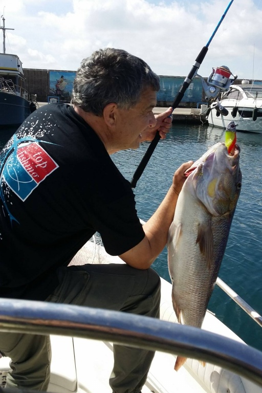 Gilles Garin (client Top Fishing) au Shad denti pro