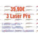 Lot de 3 Laser Pro 190 mm