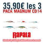 Pack 3 Leurres Rapala Countdown Magnum